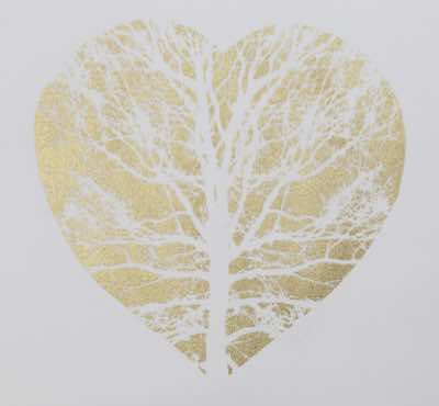 Screen Print and gold pigment, limited Edition of 5, 10x10cm, part of the V&A collection fund